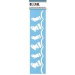 Clear Scraps - Mascils - Border Masking Stencil - Stockings