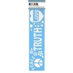 Clear Scraps - Mascils - Border Masking Stencil - Truth