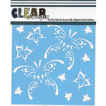 Clear Scraps - Mascils - 12 x 12 Masking Stencil - Butterfly Tear Drops