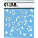 Clear Scraps - Mascils - 6 x 6 Masking Stencil - Butterfly Tear Drops