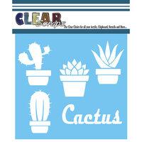 Clear Scraps - Mascils - 6 x 6 - Masking Stencil - Cactus Pots