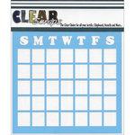Clear Scraps - Mascils - 12 x 12 Masking Stencil - Calendar