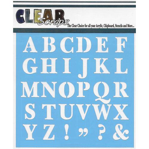 Clear Scraps - Mascils - 12 x 12 Masking Stencil - Capital ABC's