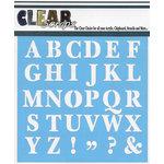 Clear Scraps - Mascils - 6 x 6 Masking Stencil - Capital ABC's