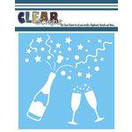 Clear Scraps - Mascils - 6 x 6 Masking Stencil - Celebrate