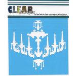Clear Scraps - Mascils - 12 x 12 Masking Stencil - Chandelier