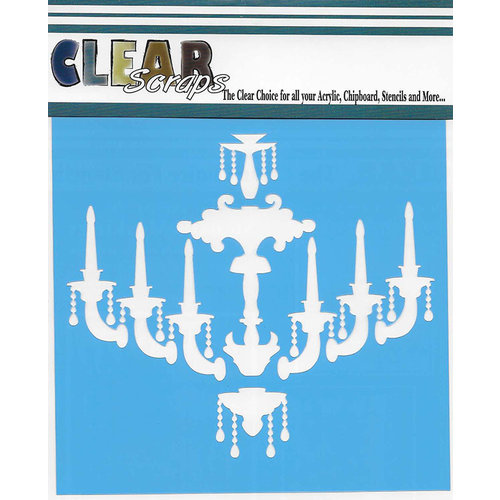 Clear Scraps - Mascils - 6 x 6 Masking Stencil - Chandelier