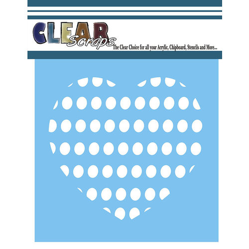 Clear Scraps - Mascils - 12 x 12 Masking Stencil - Circle Heart