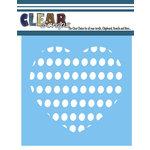 Clear Scraps - Mascils - 6 x 6 Masking Stencil - Circle Heart