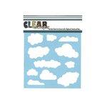 Clear Scraps - Mascils - 6 x 6 Masking Stencil - Clouds
