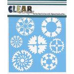 Clear Scraps - Mascils - 12 x 12 Masking Stencil - Cog Wheels