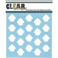 Clear Scraps - Mascils - 12 x 12 Masking Stencil - Cupcakes