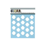 Clear Scraps - Mascils - 6 x 6 Masking Stencil - Cupcakes