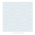 Clear Scraps - Mascils - 12 x 12 Masking Stencil - Damask