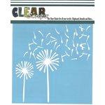 Clear Scraps - Mascils - 12 x 12 Masking Stencil - Dandelions Wind