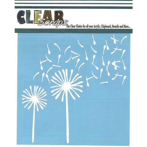 Clear Scraps - Mascils - 6 x 6 Masking Stencil - Dandelions Wind