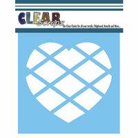 Clear Scraps - Mascils - 12 x 12 Masking Stencil - Diamond Heart