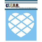 Clear Scraps - Mascils - 6 x 6 Masking Stencil - Diamond Heart