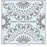 Clear Scraps - Mascils - 12 x 12 Masking Stencil - Doily