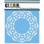 Clear Scraps - Mascils - 12 x 12 Masking Stencil - Doily Mat