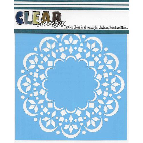 Clear Scraps - Mascils - 6 x 6 Masking Stencil - Doily Mat