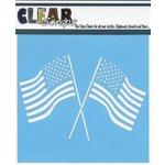 Clear Scraps - Mascils - 6 x 6 Masking Stencil - Dual Flags