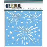 Clear Scraps - Mascils - 6 x 6 Masking Stencil - Fireworks Splash