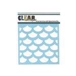 Clear Scraps - Mascils - 6 x 6 Masking Stencil - Fish Scales