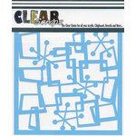 Clear Scraps - Mascils - 12 x 12 Masking Stencil - Funky Boxes