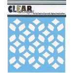 Clear Scraps - Mascils - 6 x 6 Masking Stencil - Funky Pattern