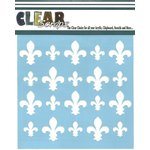 Clear Scraps - Mascils - 12 x 12 Masking Stencil - Fleur-de-lis
