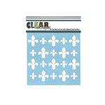 Clear Scraps - Mascils - 6 x 6 Masking Stencil - Fleur-de-lis