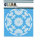 Clear Scraps - Mascils - 12 x 12 Masking Stencil - Floral Circle