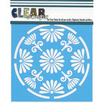 Clear Scraps - Mascils - 6 x 6 Masking Stencil - Floral Circle