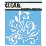 Clear Scraps - Mascils - 6 x 6 Masking Stencil - Flourish Branch
