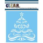 Clear Scraps - Mascils - Christmas - 6 x 6 Masking Stencil - Flourish Xmas Tree