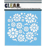 Clear Scraps - Mascils - 6 x 6 Masking Stencil - Flower Power