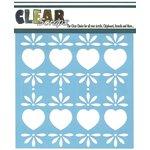 Clear Scraps - Mascils - 6 x 6 Masking Stencil - Folk Hearts
