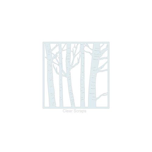Clear Scraps - Mascils - 6 x 6 Masking Stencil - Forest
