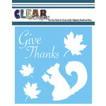 Clear Scraps - Mascils - 6 x 6 Masking Stencil - Give Thanks Pattern