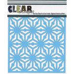Clear Scraps - Mascils - 6 x 6 Masking Stencil - GEO Pattern