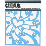 Clear Scraps - Mascils - 12 x 12 Masking Stencil - Groovy Heart