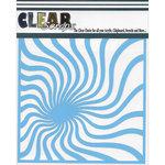 Clear Scraps - Mascils - 6 x 6 Masking Stencil - Groovy Spirals