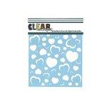 Clear Scraps - Mascils - 6 x 6 Masking Stencil - Heart Wall