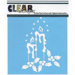 Clear Scraps - Christmas - Mascils - 12 x 12 Masking Stencil - Holiday Candles