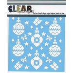 Clear Scraps - Christmas - Mascils - 12 x 12 Masking Stencil - Holiday Bulbs