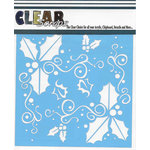 Clear Scraps - Christmas - Mascils - 12 x 12 Masking Stencil - Holly Fun