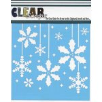 Clear Scraps - Mascils - Christmas - 12 x 12 Masking Stencil - Holly X-mas Bulbs
