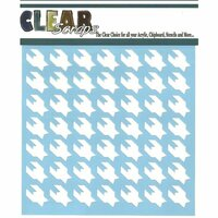 Clear Scraps - Mascils - 12 x 12 Masking Stencil - Houndstooth