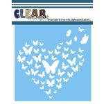 Clear Scraps - Mascils - 6 x 6 Masking Stencil - Heart Butterfly